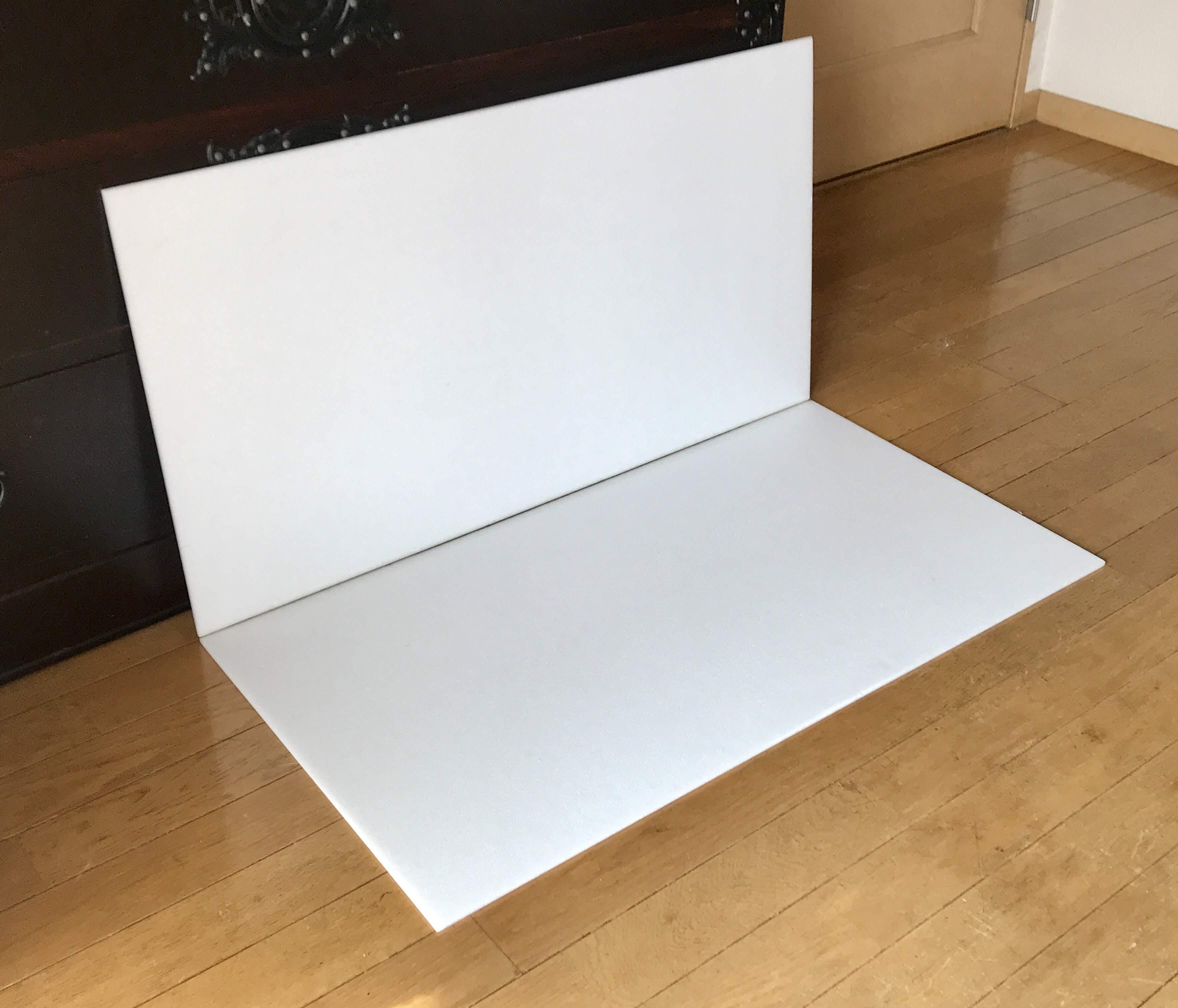 スチレンボード2枚組みパネルを背景