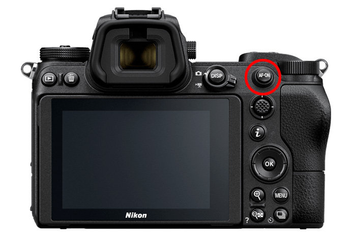 AF-ONボタンがあるボディ(Nikon D850、Nikon D6、Nikon Z 6/7/6II/7II)