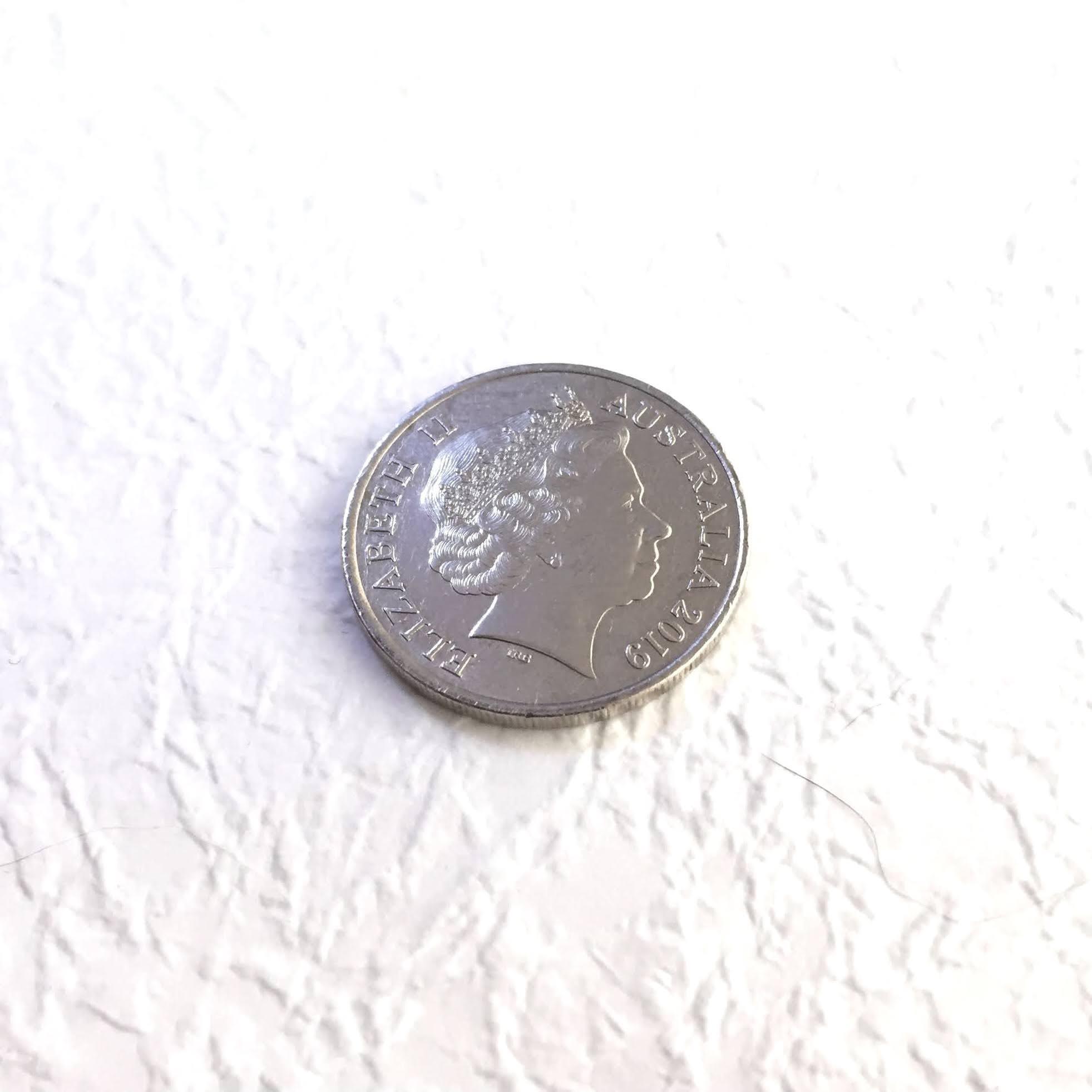 コイン撮影:LEDライトのズーム