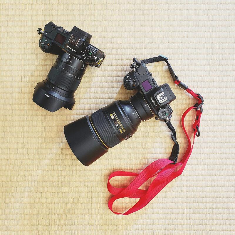 レンズZ 6+Z 24-70mm f/4 S と レンズZ 7+FTZ+105mm f/1.4E